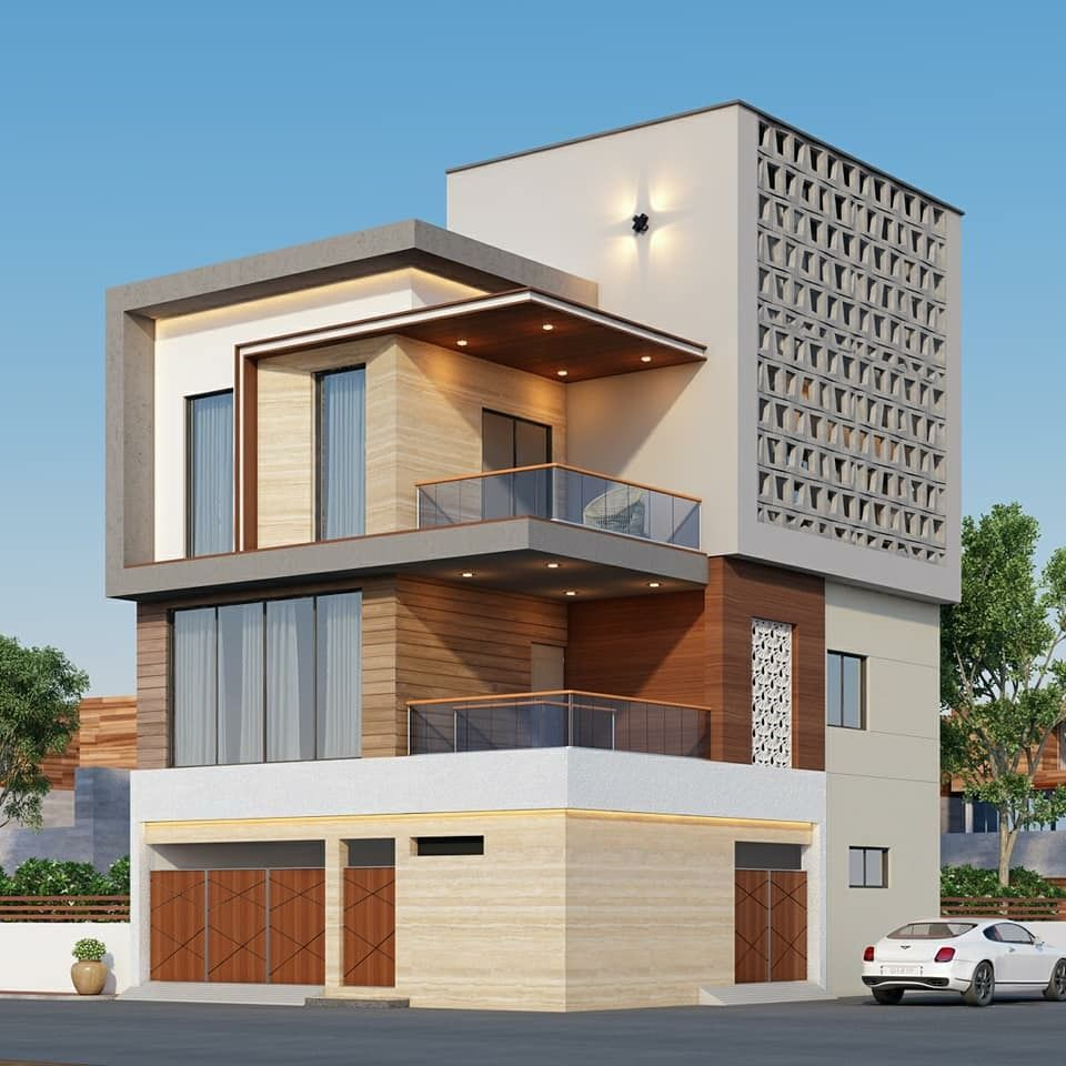 Beautiful house elevation building tiny design modern also pin by spacemek on architecture in rh pinterest