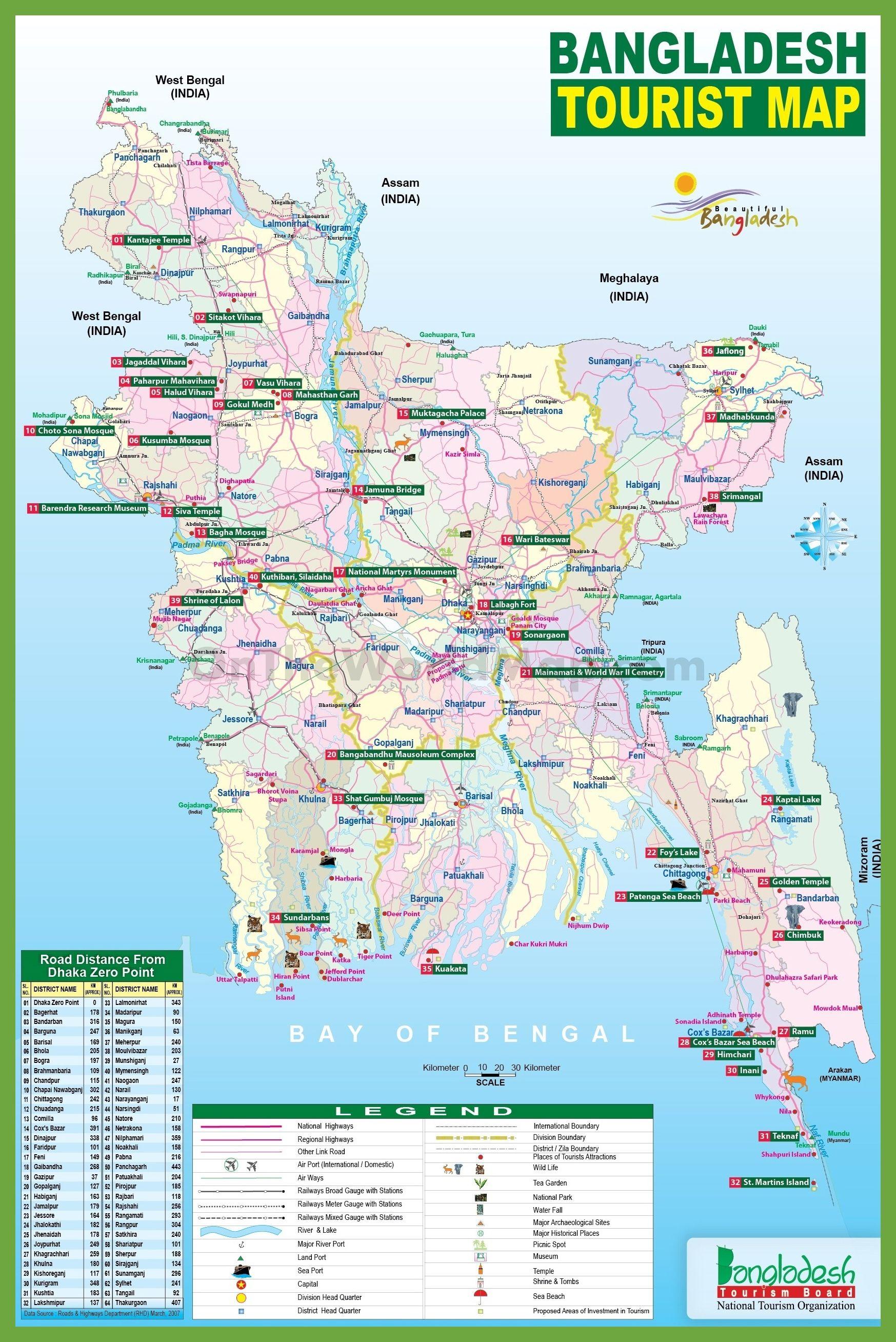 Asia Map Bangladesh.Tourist Map Of Bangladesh Gewgrafia Pinterest Tourist Map Map