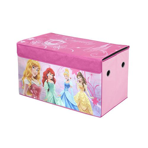 Bookshelf Storage Chest Kids Toy Box Plastic Play Room: Disney Princess Collapsible Toy Chest