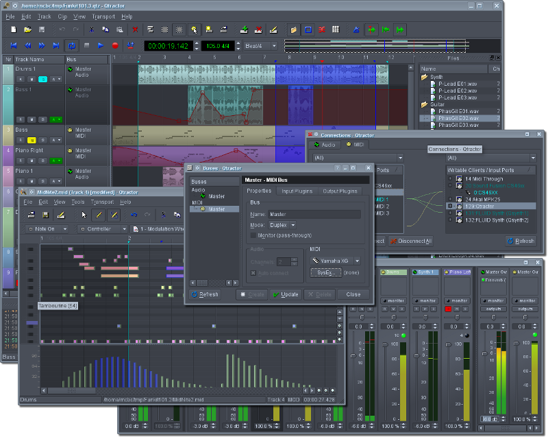 Qtractor is an Audio/MIDI multitrack sequencer