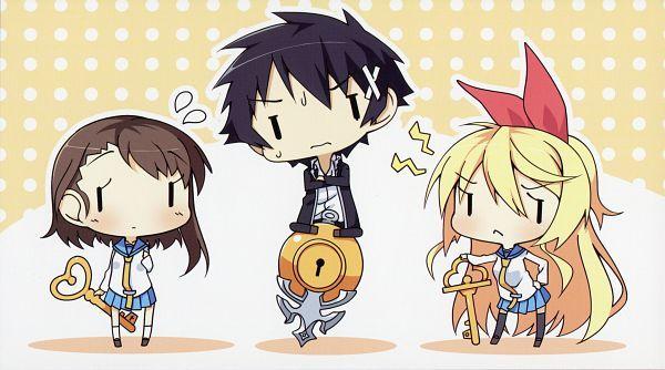 Tags: Anime, Amakara Surume, Nisekoi, Ichijou Raku, Kirisaki Chitoge, Onodera Kosaki