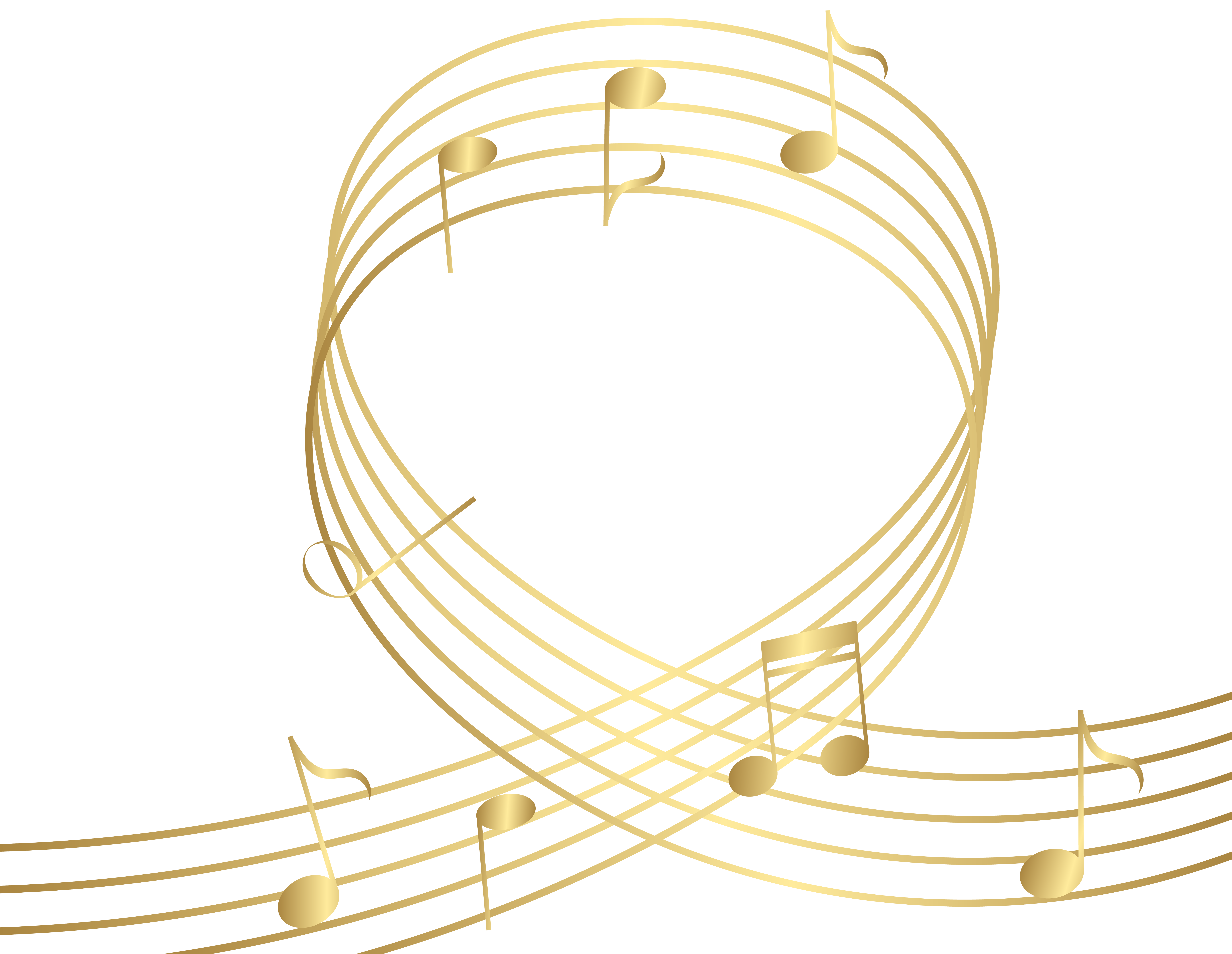Gold Musical Notes Clip Art Free Clip Art Png Images