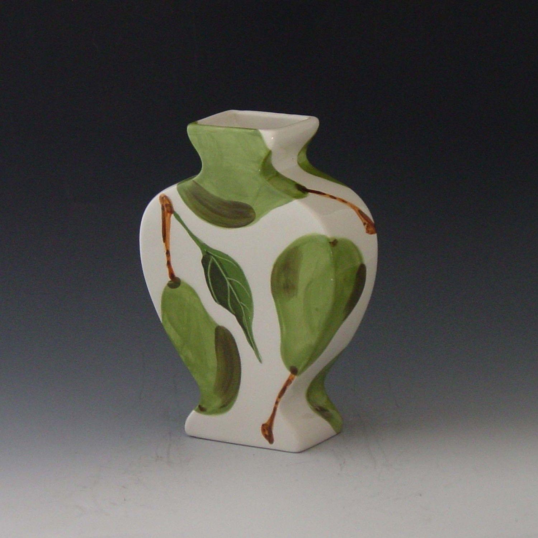 Vase ceramic vase flower vase pear flat urn vase green and white vase ceramic vase flower vase pear flat urn vase green and white pottery vase gift for reviewsmspy