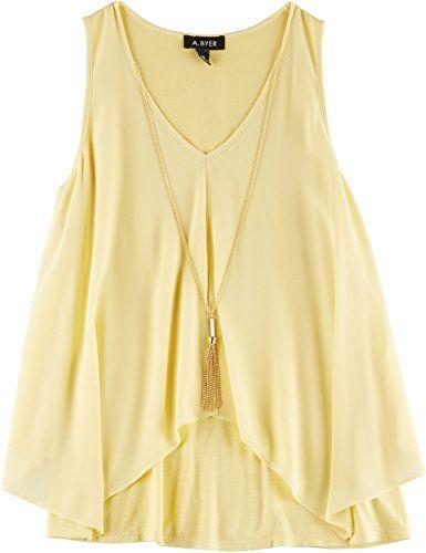 A. Byer Juniors Necklace & Chiffon Tank Top Small Yellow A. Byer http://www.amazon.com/dp/B01DJ3R4BW/ref=cm_sw_r_pi_dp_BERdxb0E18820