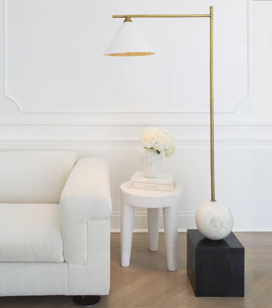Fluted Marble Vase By Kelly Wearstler Floor Lamp Contemporary Floor Lamps Modern Lamp