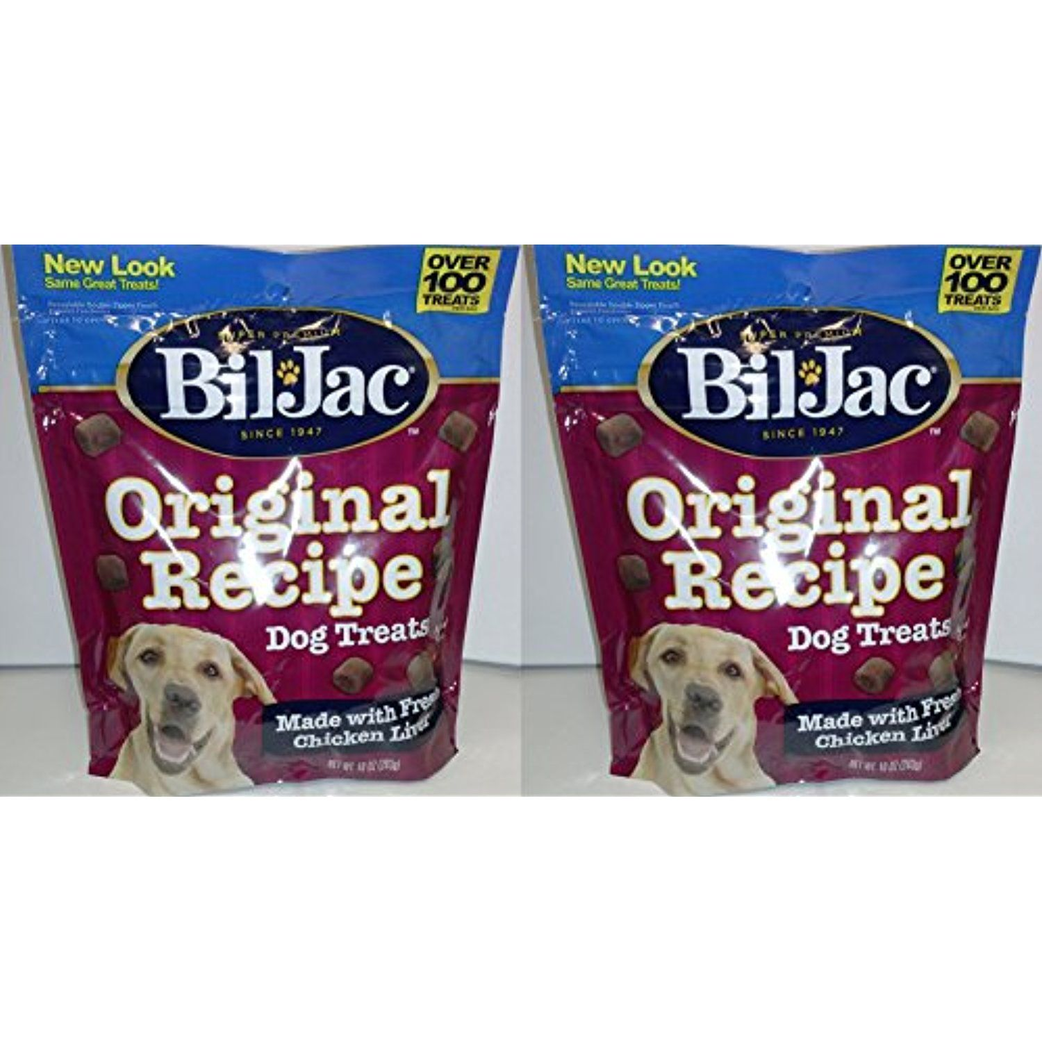 graphic about Bil-jac Coupons Printable titled 2 Pack) Bil Jac Authentic Recipe Rooster Liver Canine Snacks