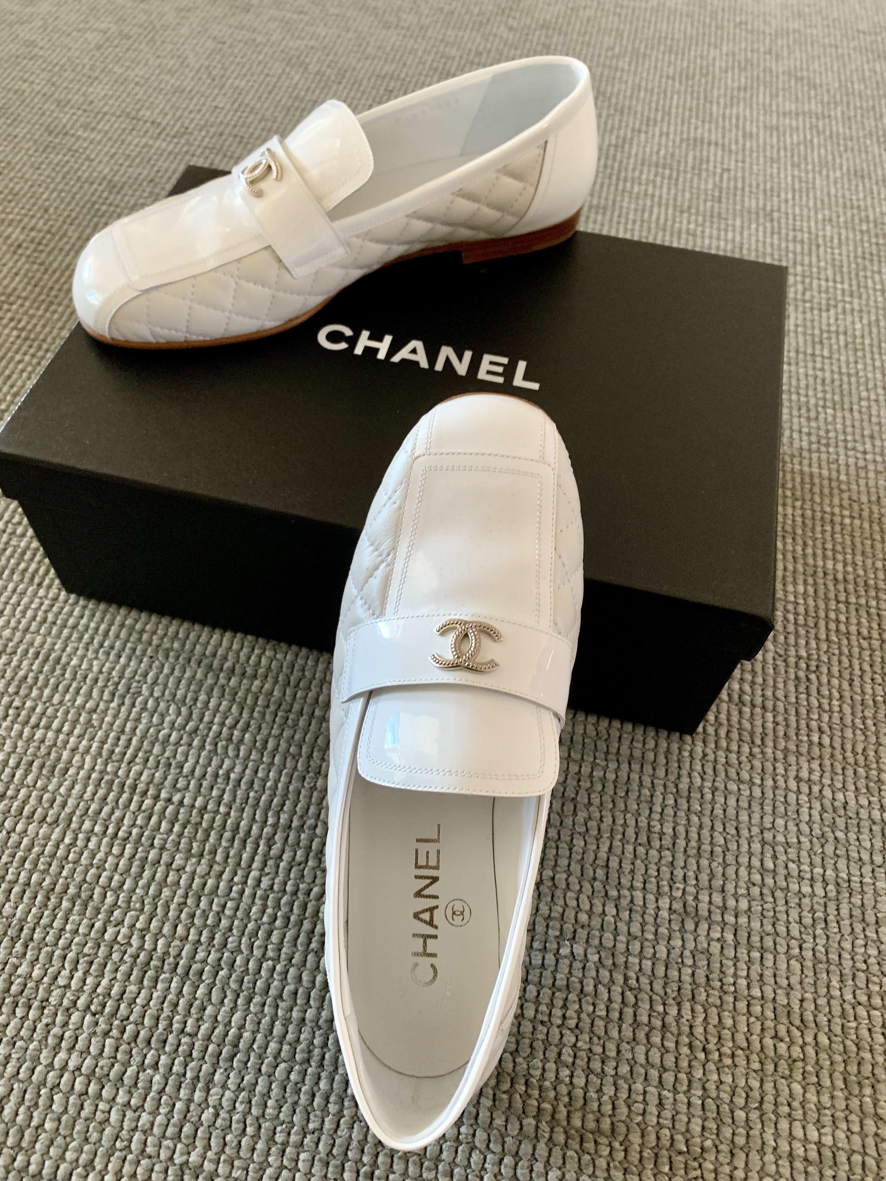 Chanel white loafer | Dress shoes men