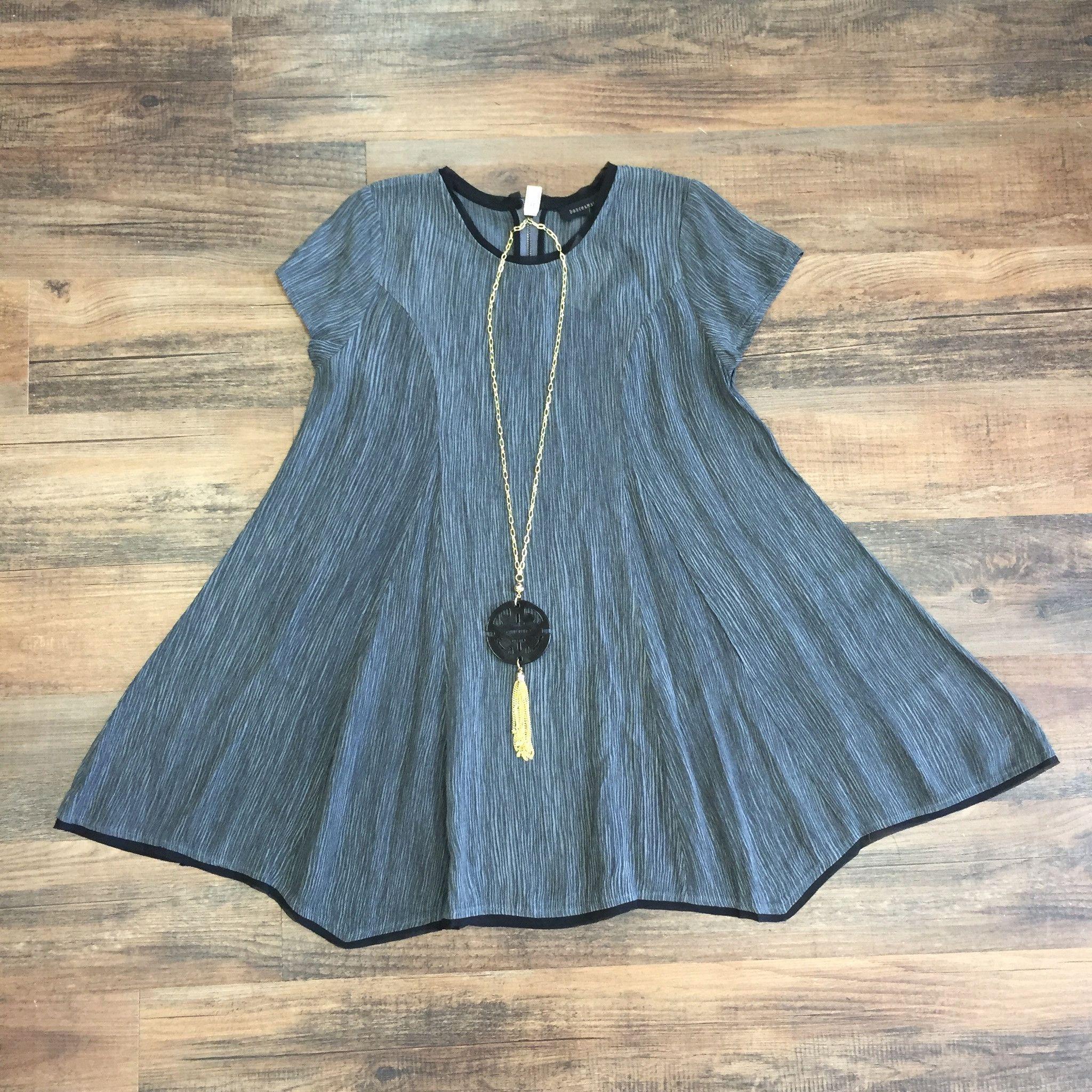 Charcoal Shift Dress