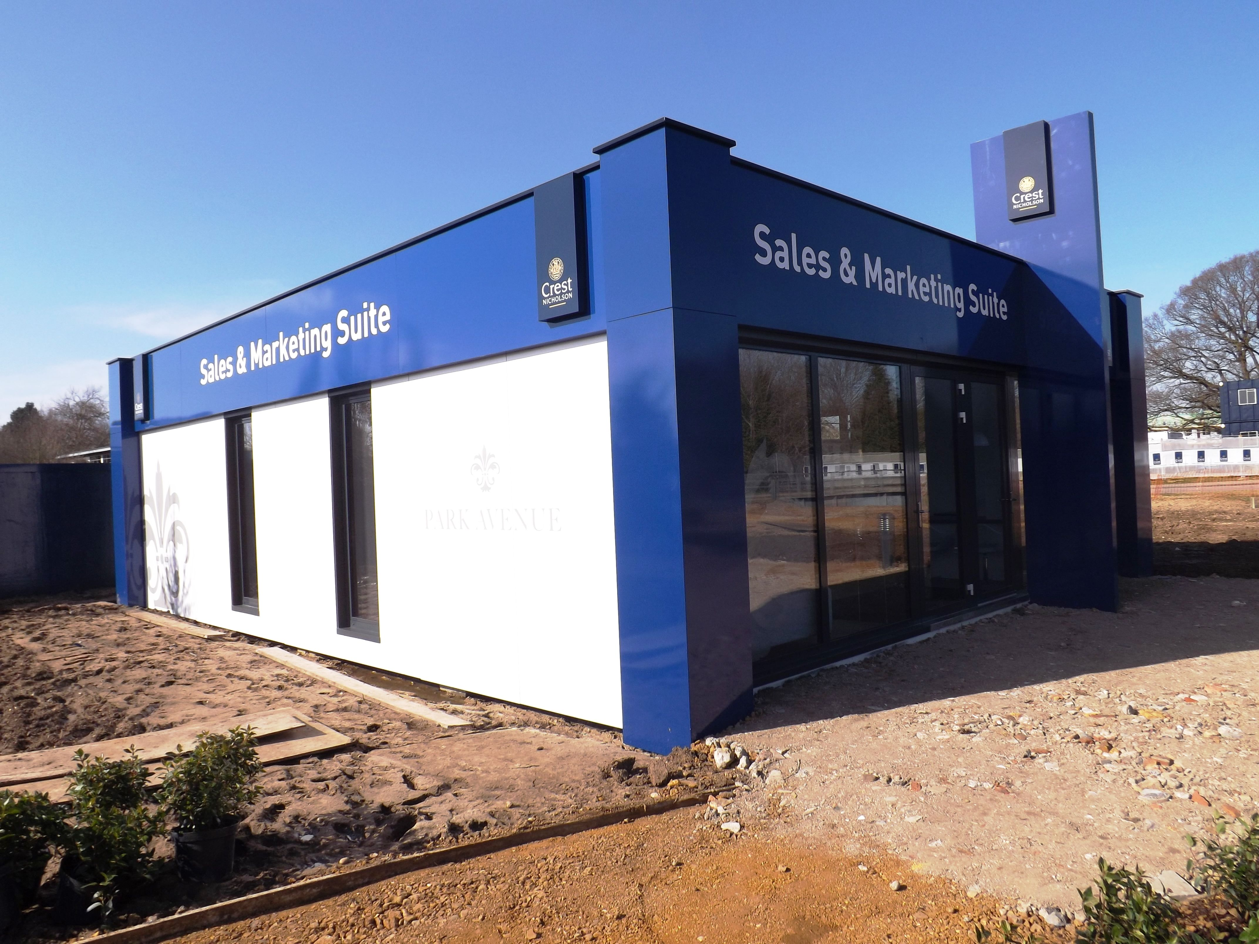 Modular marketing suite sales office for house builders for Marketing to builders