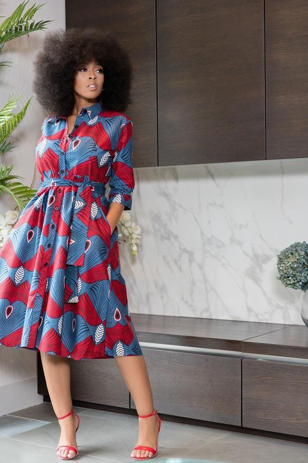African Print Senegal Midi Dress: African Print Taavi Midi Dress