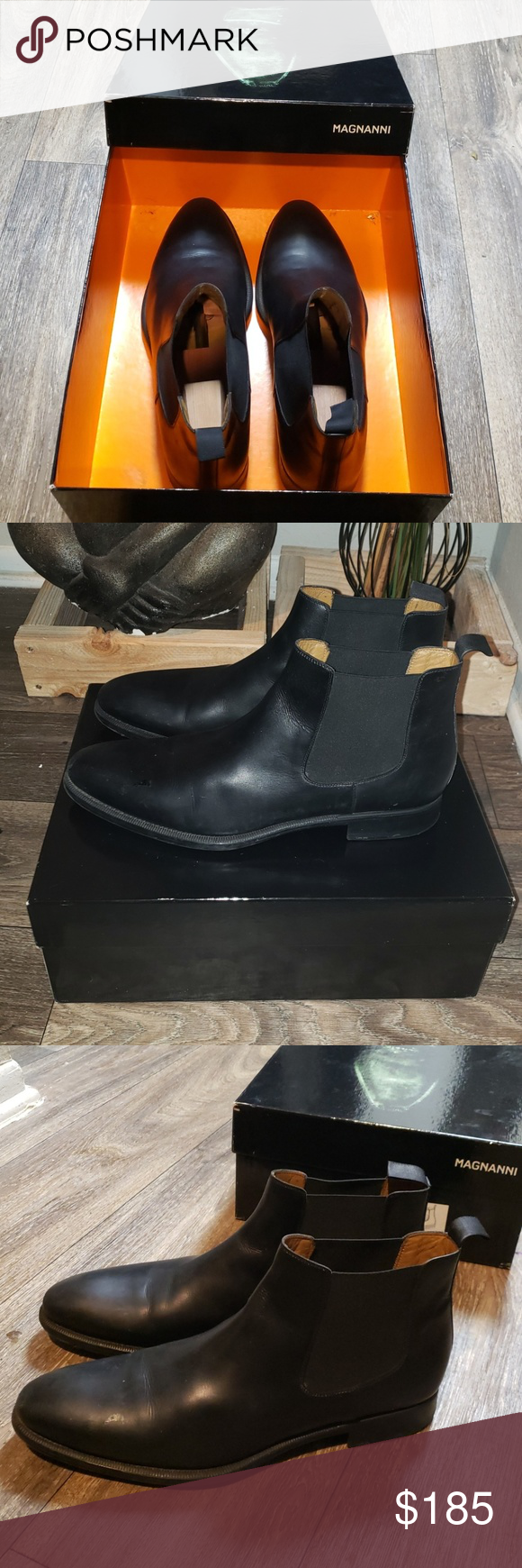 Magnanni foster leather Chelsea boot