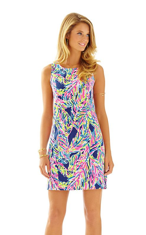fca532d334ce1 Lilly Pulitzer Cathy Shift Dress in Palm Reader