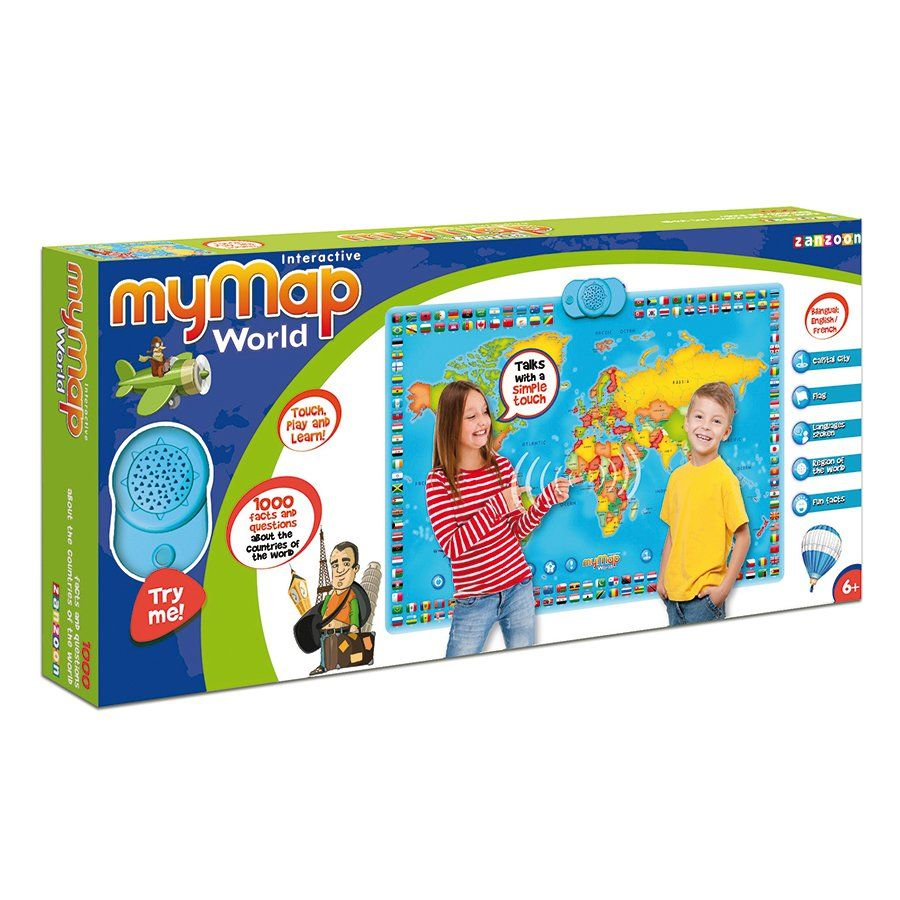 Interactive talking world map poster toys r us australia interactive talking world map poster toys r us australia gumiabroncs Image collections