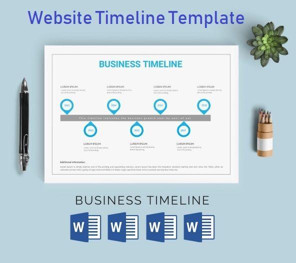 timeline template pdf