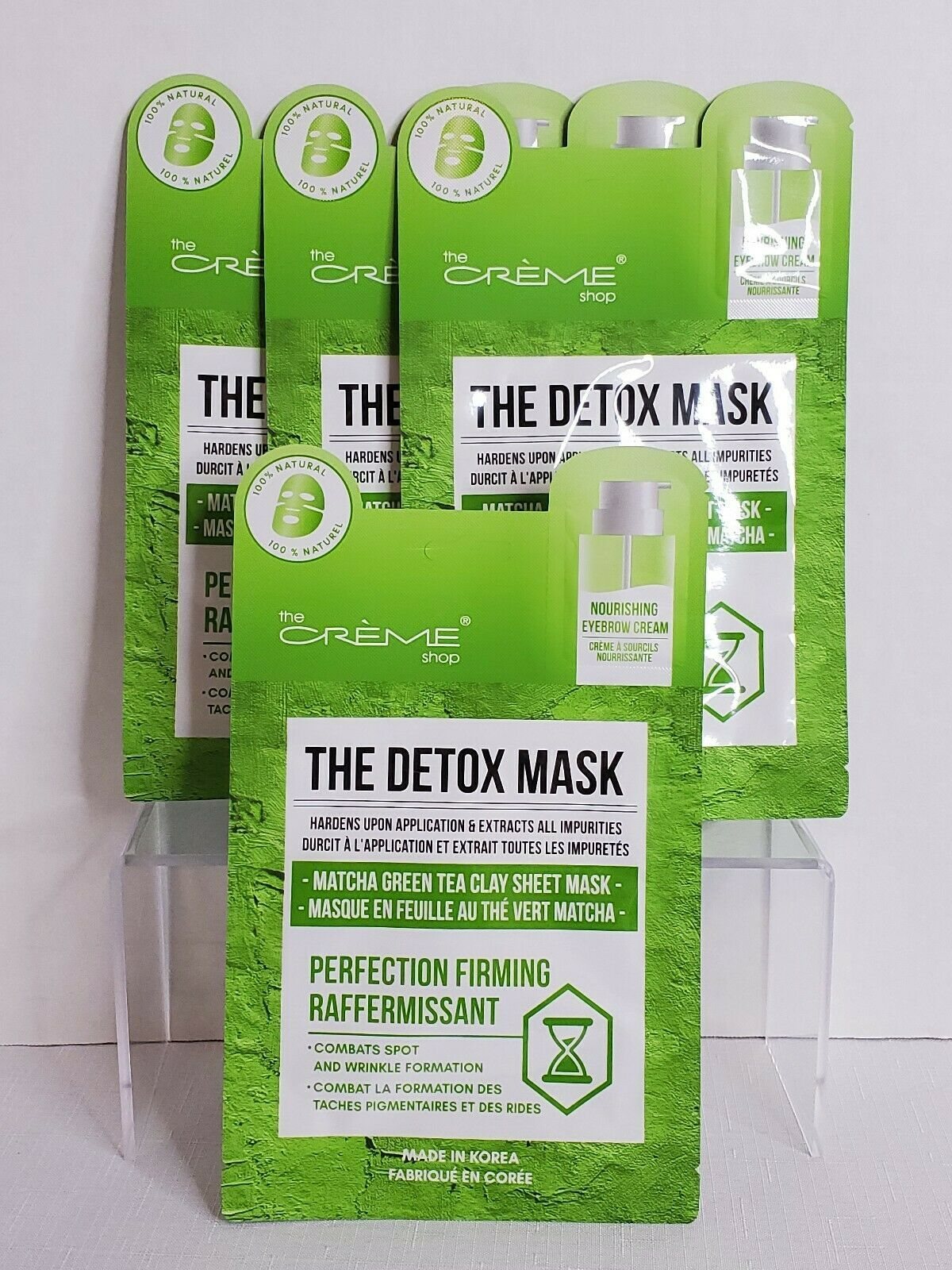 Photo of The Creme Shop Detox Face Mask Matcha Green Tea Clay Sheet Mask Skincare Firming $16.99 #GreenTeaFac