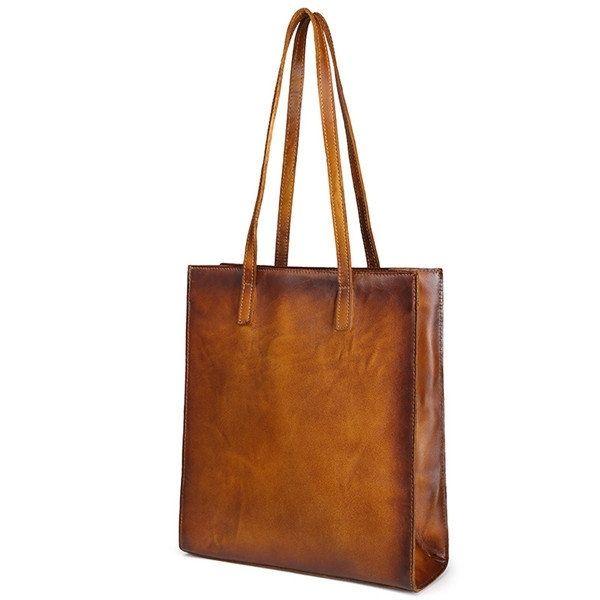 189ba467615 US$76.29 - Women Handmade Brush-off Color Genuine Leather Handbag ...