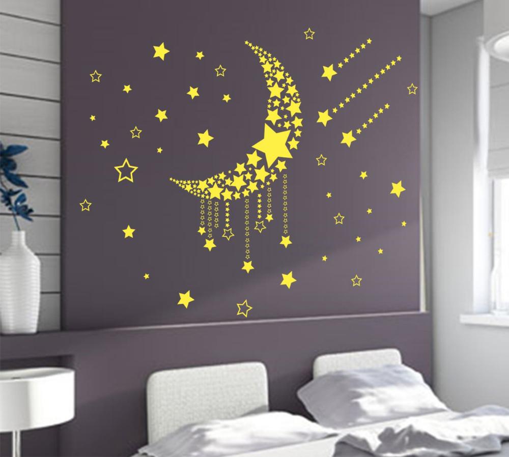 Bedroom Wall Art Diy Best Of Large Moon Stars Wall Art Vinyl Stickers Diy Bedroom Wall By Ab Wall Art Diy Bedroom Wall Decals For Bedroom Pinterest Wall Decor