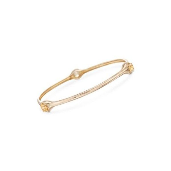 Ross-Simons 1.20ct t.w. Citrine Bangle Bracelet in Gold Over Sterling. ($110) ❤ liked on Polyvore featuring jewelry, bracelets, silver, gold hinged bangle, yellow gold jewelry, gold hinged bracelet, gold jewelry and gold bracelet bangle