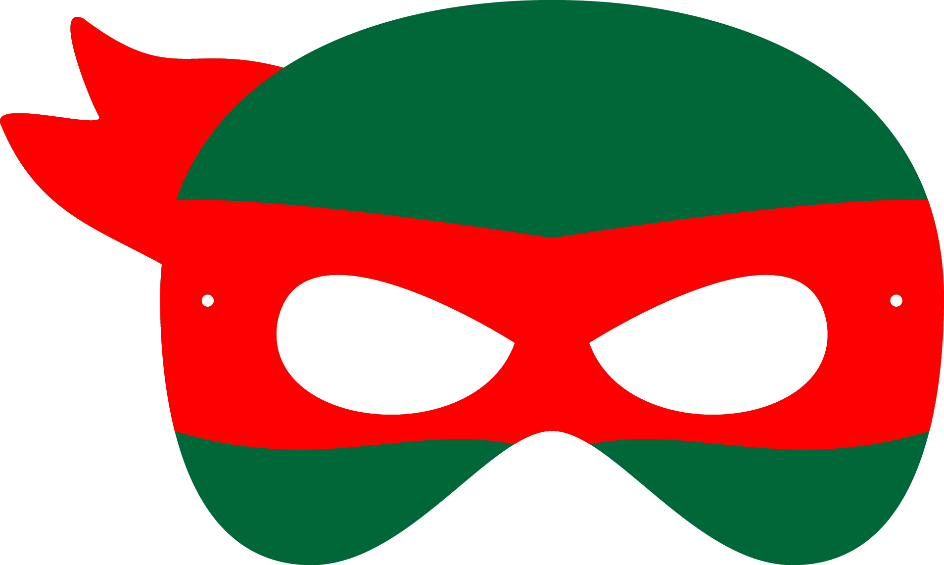 Zany image with ninja turtle printable mask