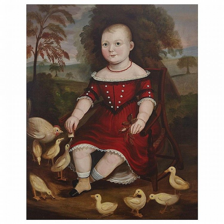 PORTRAIT of one-year old ALFRED OPENSHAW  1847 oil on canvas