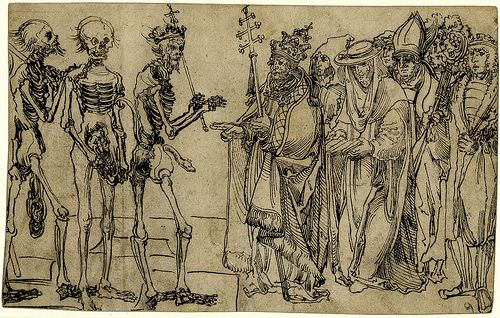 Group of Figures, Including a Pope, a Cardinal, a Bishop and a King, Meeting Three Skeletons | Flickr - Photo Sharing!