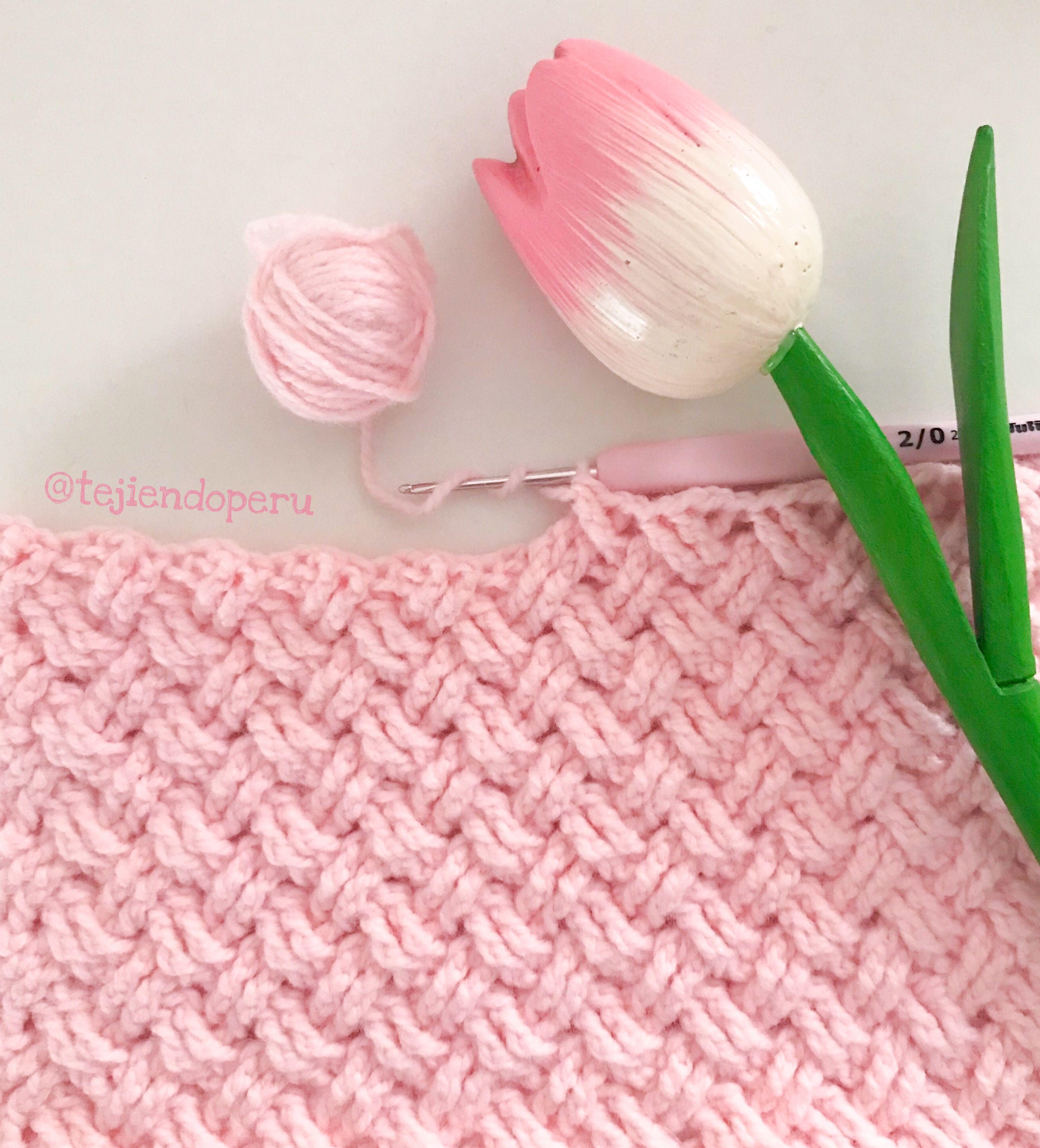 Crochet: punto celta paso a paso . Crochet Celtic Stitch ...