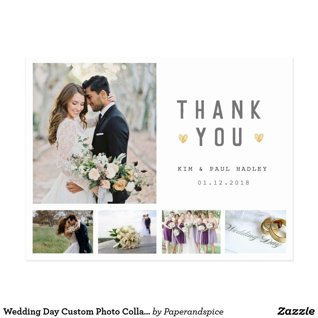 Wedding Day Custom Photo Collage Thank