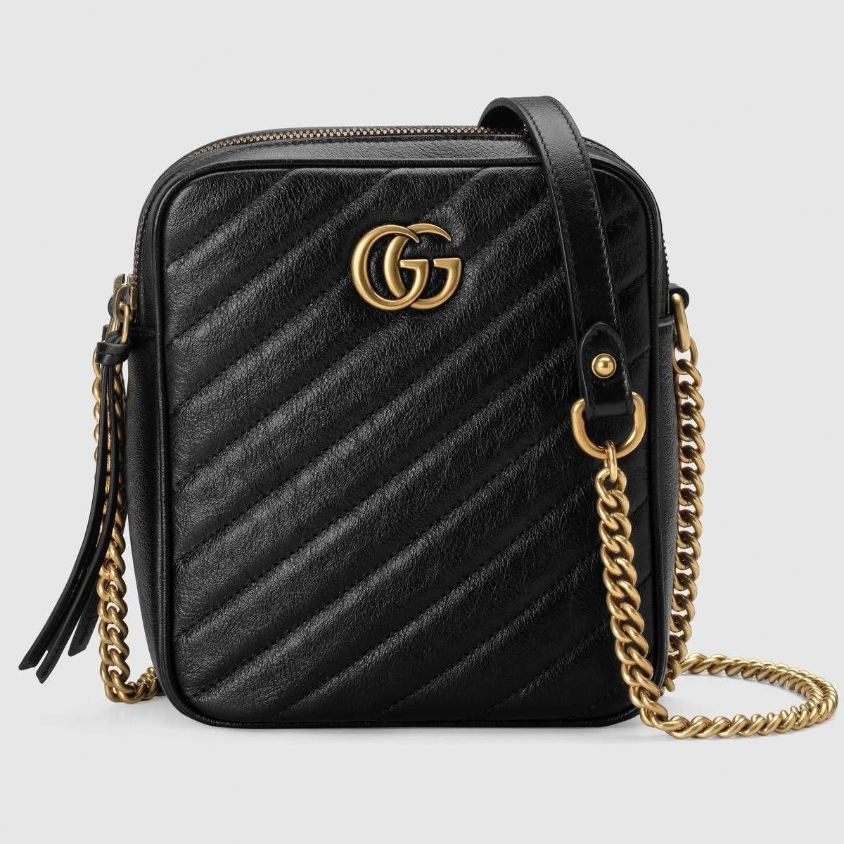 0d409d391 Shop the GG Marmont mini shoulder bag by Gucci. A new introduction to the GG
