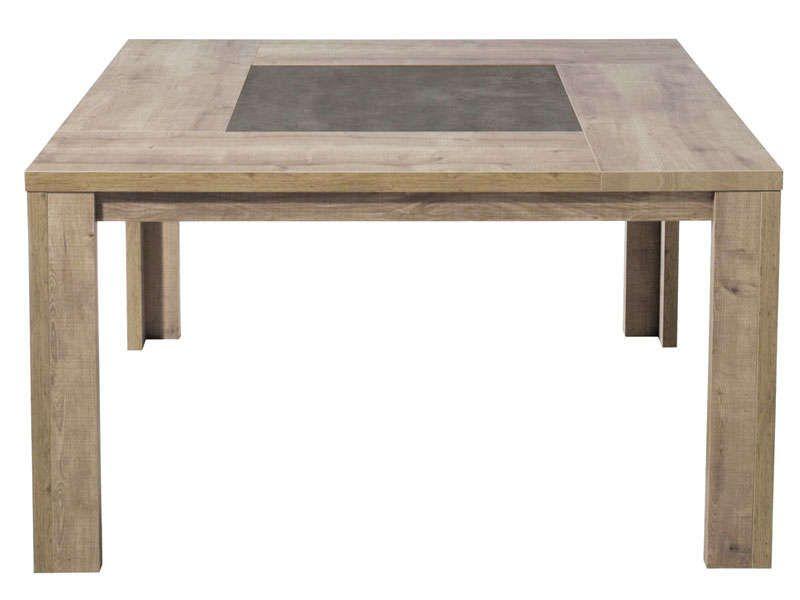 Table carrée 140 cm BREST coloris chêne - Vente de Table de cuisine