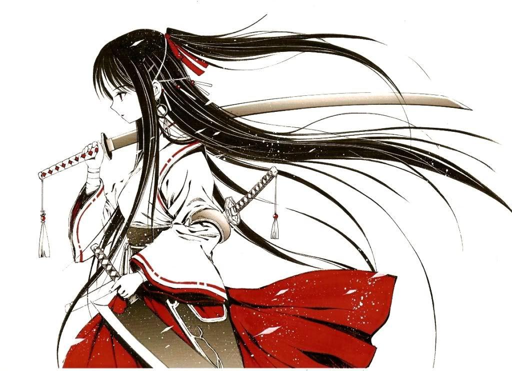 Tremendous 1000 Ideas About Anime Warrior Girl On Pinterest Anime Warrior Short Hairstyles For Black Women Fulllsitofus