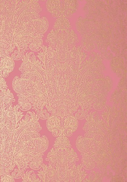 Anna French Auburn Wallpaper In Metallic Gold On Pink