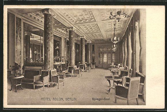 Ak Berlin postcard ak berlin hotel adlon spiegel saal b ä rlin