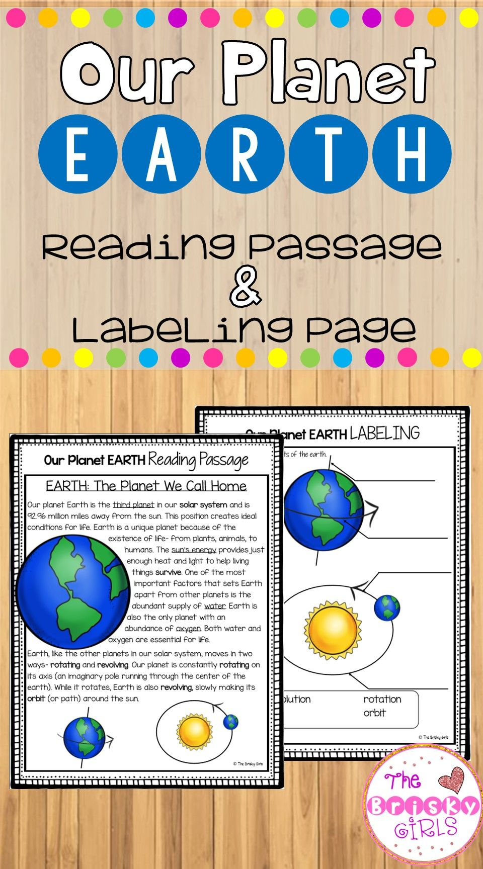 All About The Earth Reading Passage Includes Details On How Our Planet Is Unique With Important Features Like W Reading Passages Our Planet Earth Teacher Help [ 1728 x 960 Pixel ]