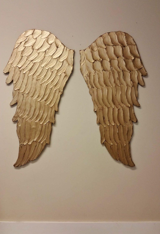 Wood Angel Wings Wall Art Carved Look Angel Wings Wall Decor