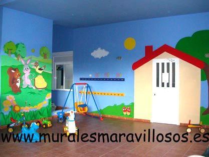 Patio de juegos de la escuela infantil bambinos madrid mural de animales pinterest - Escuela decoracion madrid ...