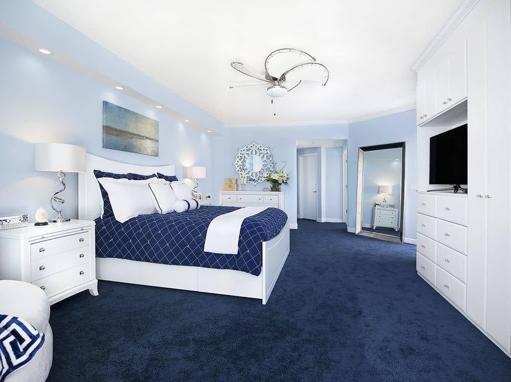 50 Blue Primary Bedroom Ideas Photos Blue Carpet Bedroom Blue Master Bedroom Light Blue Bedroom