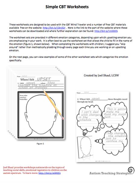 Printable Worksheets | Cbt worksheets, Worksheets ...