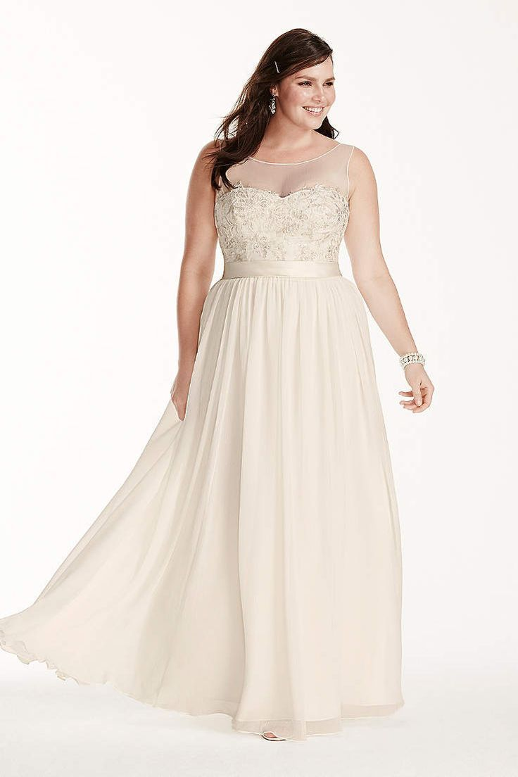 David bridal wedding dress  Rustic Wedding Davidus Bridal has a variety of beach u destination