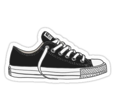 'Black Converses' Sticker by Haleyperetic is part of Stickers - Buy 'Black Converses' by Haleyperetic as a TShirt, Classic TShirt, Triblend TShirt, Lightweight Hoodie, Fitted Scoop TShirt, Fitted VNeck TShirt, Relaxed Fit TShirt, Graphic TShirt, Chiffon Top, Sleeveless Top, Sticker, iPhone Cas