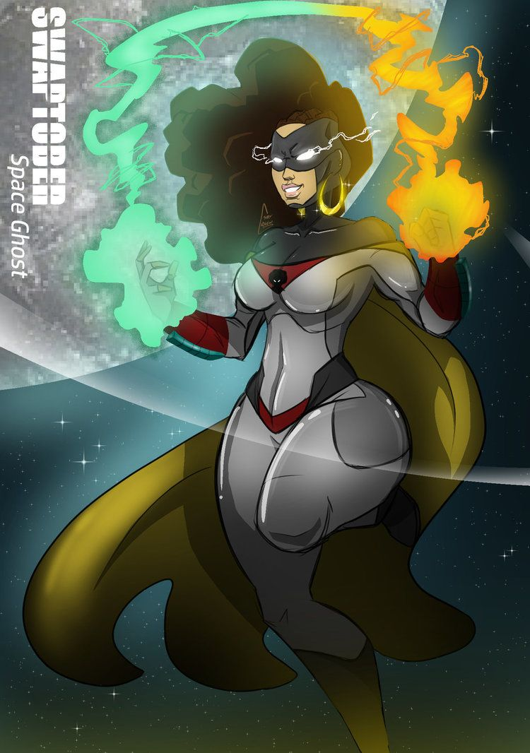 Swaptober Space ghost by ShyGreen Black anime