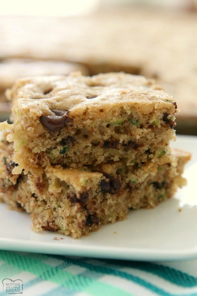 Photo of CHOCOLATE CHIP ZUCCHINI BARS – Butter with a Side of Bread