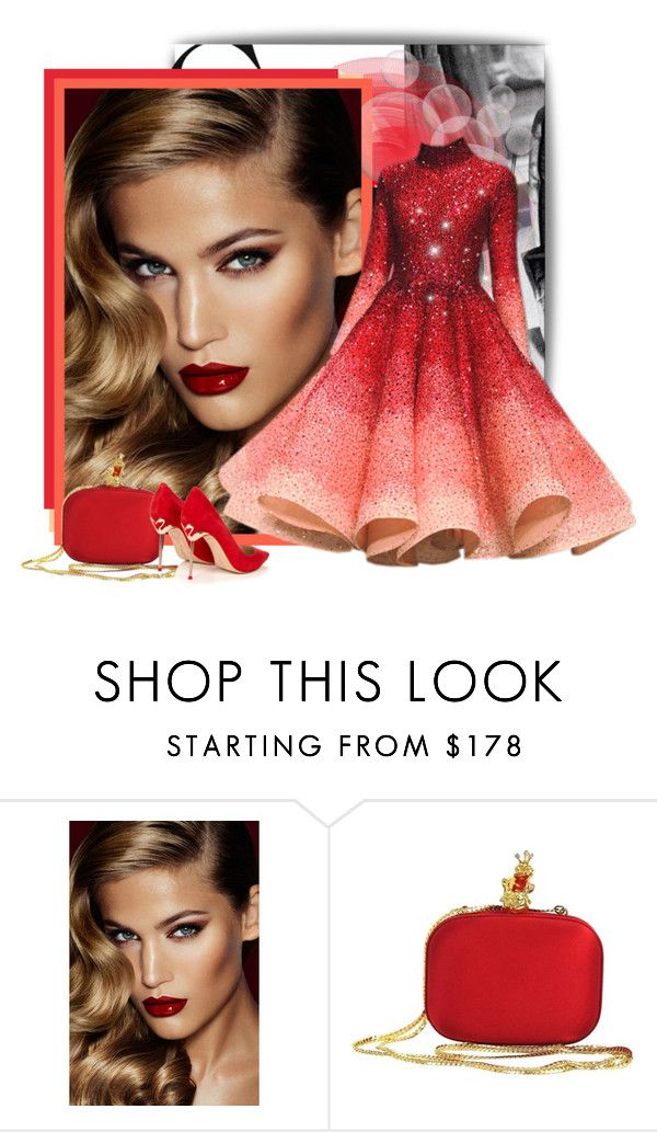 """""""Resplendent in Red"""" by gemma-t-998 ❤ liked on Polyvore featuring Charlotte Tilbury, Love Moschino and Sophia Webster"""