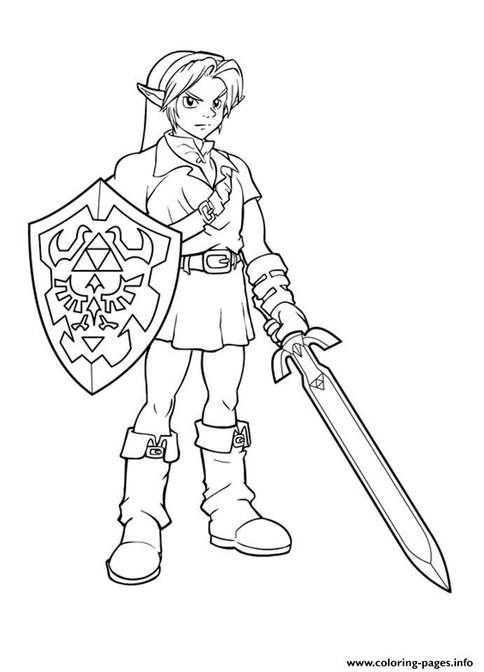 Print Link Form Zelda Ready Coloring Pages Com Imagens