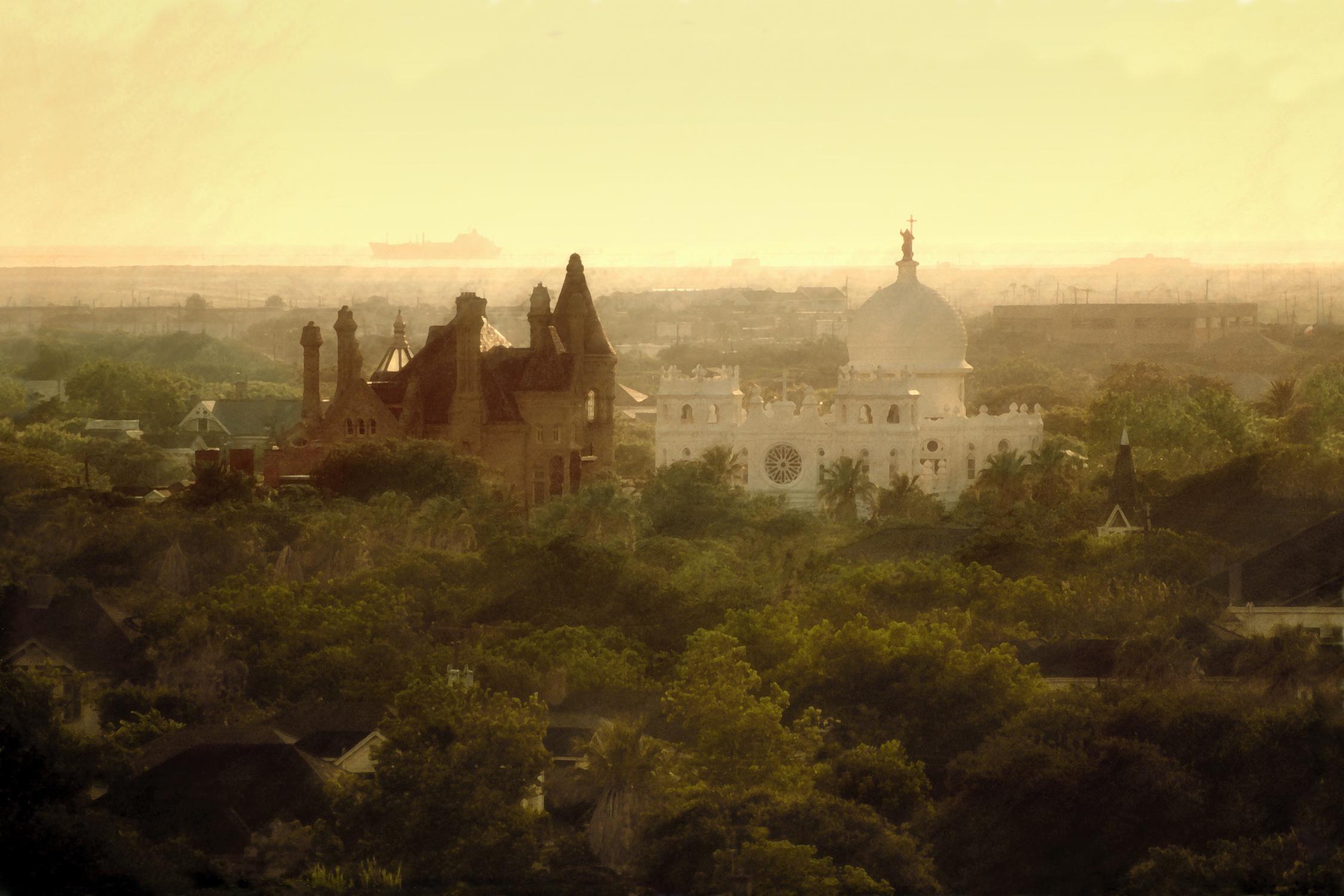 Romantic Shot Overlooking Historic 1892