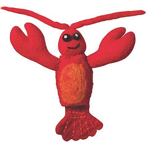 Woolie Finger Puppet - Lobster Handmade Fair Trade
