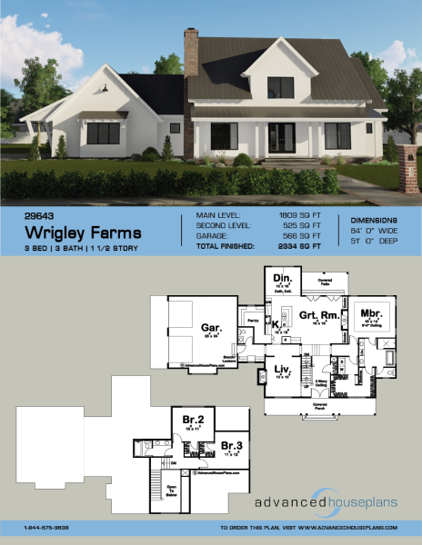 1 5 Story Modern Farmhouse Plan Wrigley Farms Modern Farmhouse Plans Farmhouse Plans House Plans Farmhouse