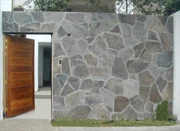 Resultado de imagen de fachada de piedra laja tendencias - Fachada de piedra natural ...