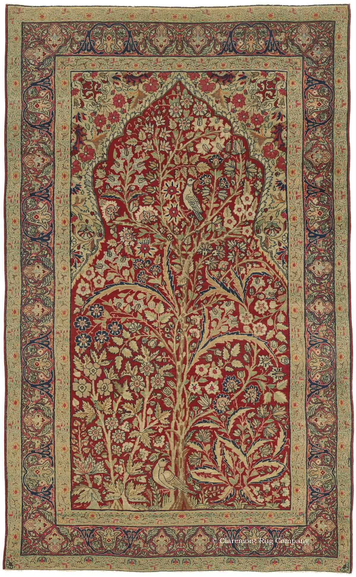 Kermanshah Tree Of Life Western Persian 4ft 5in X 7ft 3in Late 19th Century Antique Persian Carpet Claremont Rug Company Rugs On Carpet