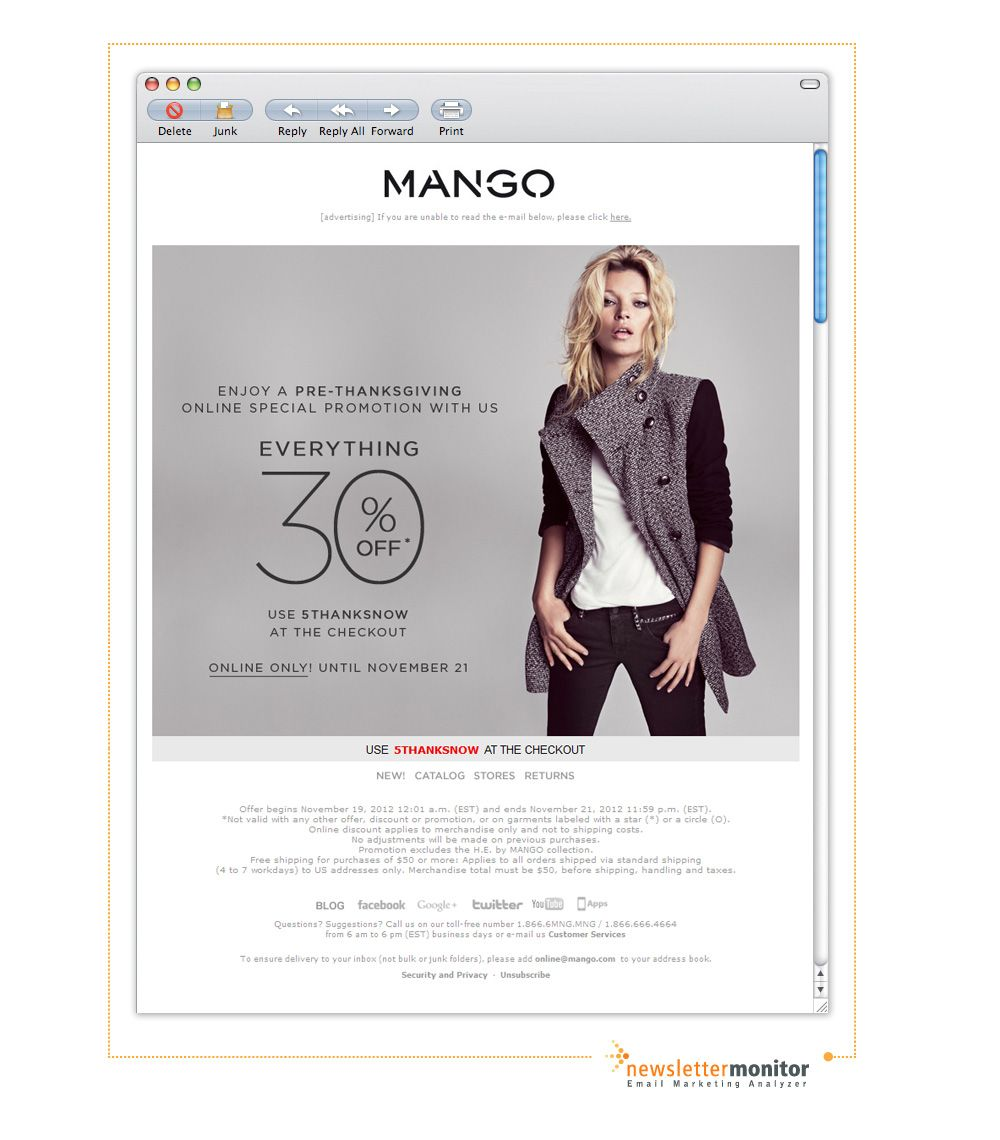Brand: Mango | Subject: PRE-THANKSGIVING: EVERYTHING 30% off