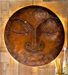 Handcrafted Glowing Zen Metal Wall Art With Images Metal Wall